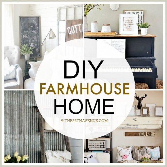 Home Decor DIY Projects - Farmhouse Design