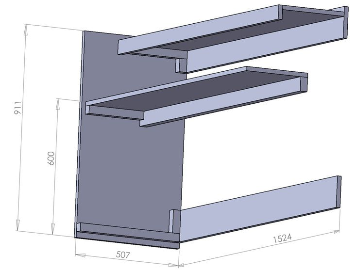 """This article describes how to build portable piano stand with two 12"""" x 60"""" shelves. It has enough room to accommodate full size 88 key di..."""