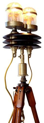 Steampunk tripod floor lamp -$3595.
