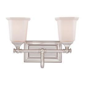 Quoizel Nicholas 2 Light 10 In Brushed Nickel Bell Vanity Light Bar Nl8602bn