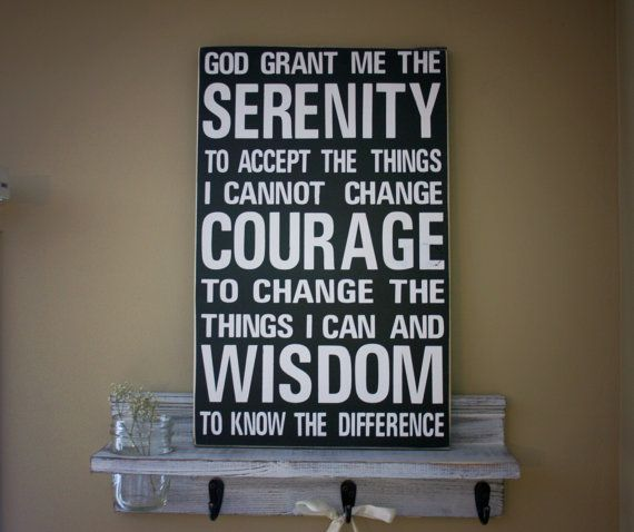 Home decor rustic wood sign serenity prayer quote by for Home decor quotes signs