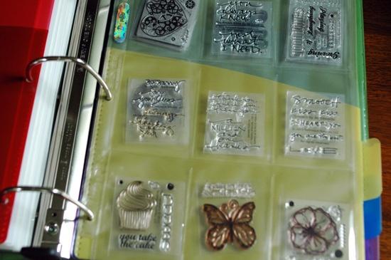 itsallrosie: Clear Stamp Storage
