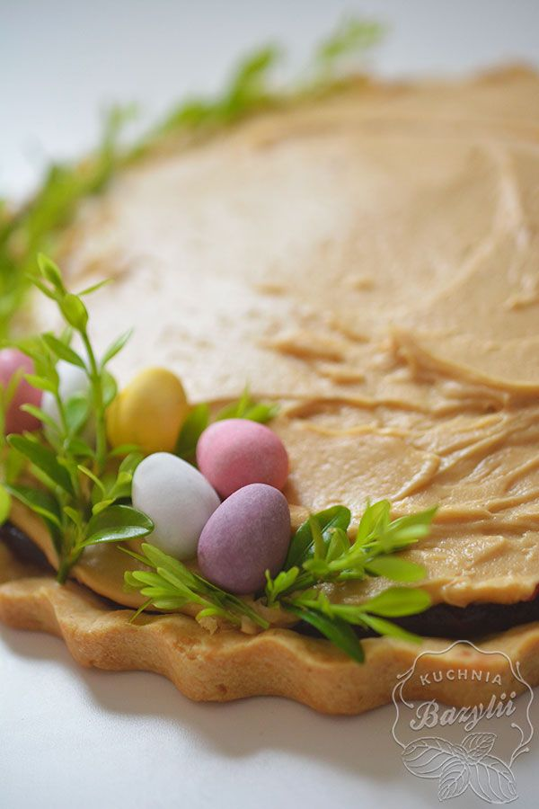 Mazurek Wielkanocny Z Powidlami I Kremem Orzechowym Kuchniabazylii