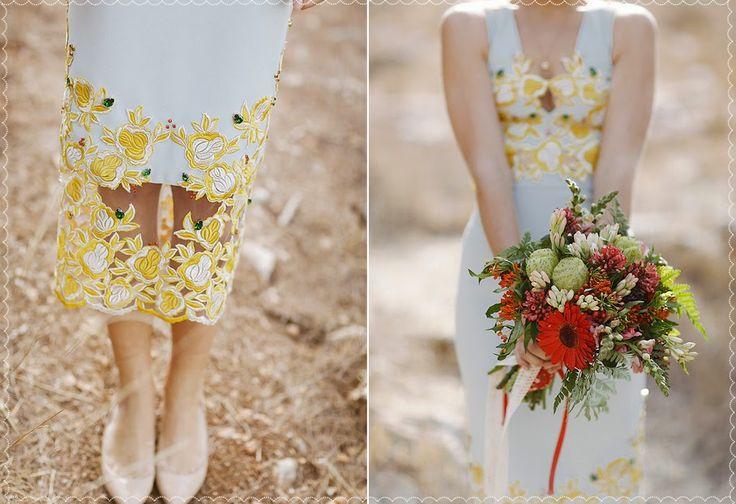 חתונה מקסימה בחוות תבלינים בחורשה ירושלמית ~ Beccy Blue Marmalade, red bouquet, bride gown, jerusalem wedding