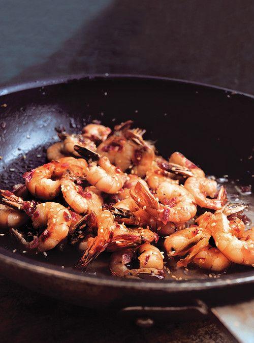 Crevettes au miel et au sésame Recettes | Ricardo