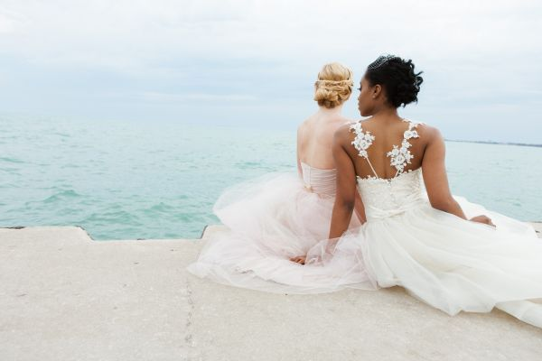 Swooned: Breezy Beauty: A Beach Bridal Shoot in Chicago