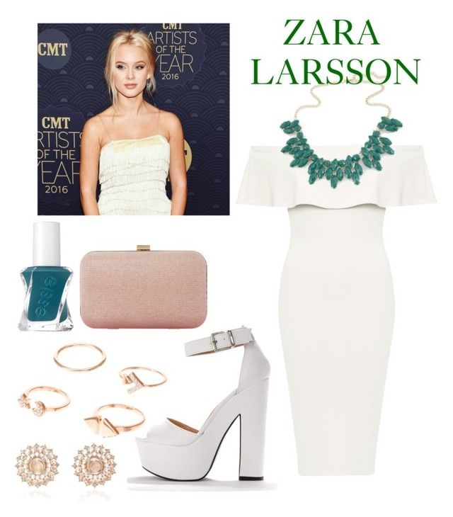 """Zara Larsson"" by katykatcara ❤ liked on Polyvore featuring WearAll, Essie, Dune, Nam Cho, celebrity, Fan, zara, singer, she and lamipaz"