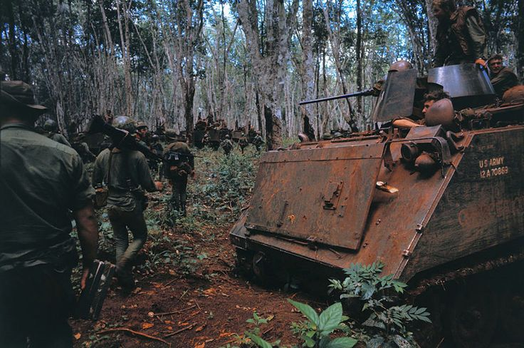 Vietnam War 1970 - Military Tanks on the Move in Cambodia
