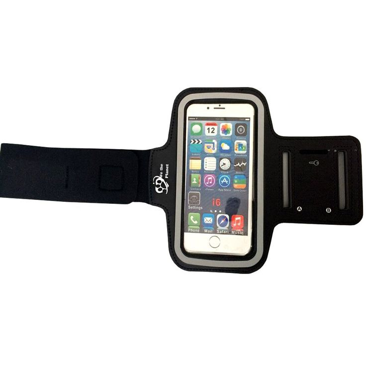 Premium Sports Armband (Black) For Apple iPhone 6, 5s, 5, Samsung Galaxy s4   Adjustable, Nonslip, Comfortable To Wear   Fits Any Smartphone With 5.2 Screen. ? Comfortable & Adjustable: Made from soft, lightweight, premium neoprene that flexes with your body. Stays in placewont slip down your arm like other brands, no matter how rigorous your workout or activity is! Fits most arm sizes up to 16. ? Stay Connected: Listen to music & answer calls & texts without having to hold your phone or...