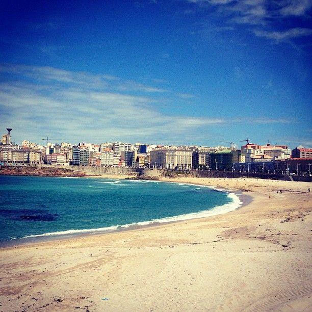 Praia do Orzán en La Coruña, Galicia