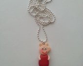 Peppa Pig necklace in fimo