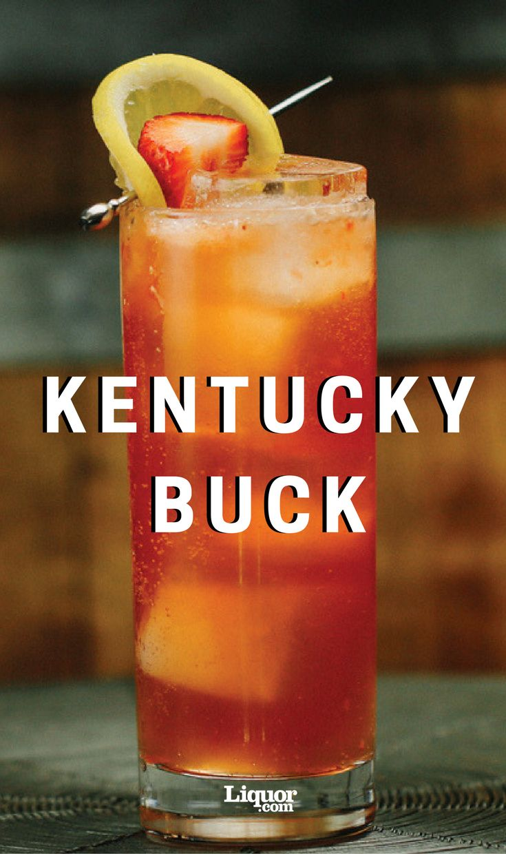 Love bourbon? Don't miss the simple and delicious Bulleit Bourbon Kentucky Buck cocktail. #bourbon #cocktail