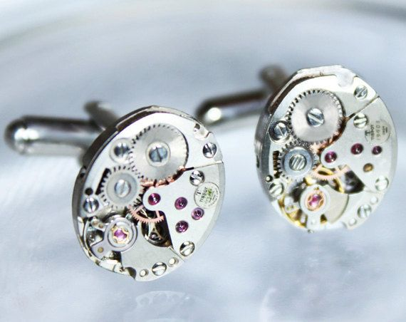 TISSOT Men Steampunk Cufflinks - Free Shipping Worldwide! Available at  Time In Fantasy. $65.00