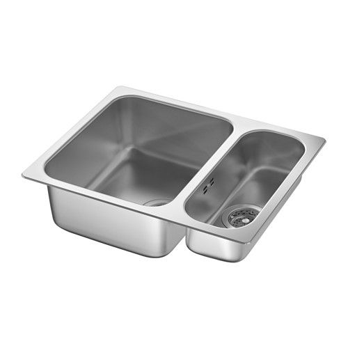 IKEA HILLESJÖN Inset sink 1 1/2 bowl Stainless steel 58x46 cm 25 year guarantee. Read about the terms in the guarantee brochure.