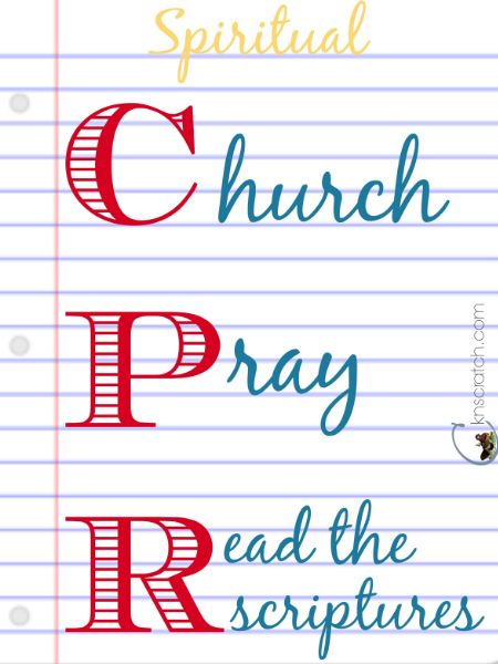 Love this idea! Spiritual CPR