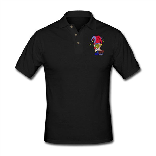Jolly Men's Polo Shirt Black Men's Polo Shirt | SnapMade.com ($29) ❤ liked on Polyvore featuring men's fashion, men's clothing, men's shirts, men's polos, mens long sleeve polo shirts, mens french cuff shirts, mens golf polo shirts, men's cotton polo shirts and mens long sleeve shirts