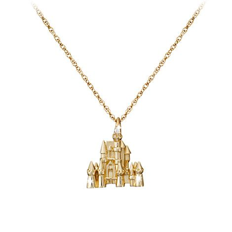 Disney Castle Necklace - Diamond and 14K Gold | Jewelry | Disney Store @Kelly Teske Goldsworthy frazier Hanrahan