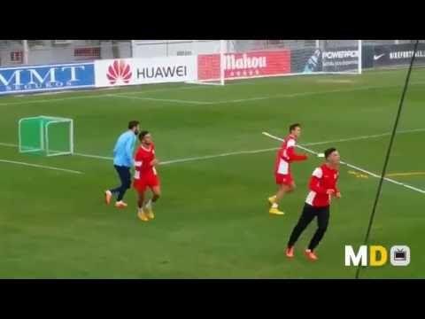 Cholo Simeone. Así entrena conceptos defensivos en Atco de Madrid - YouTube