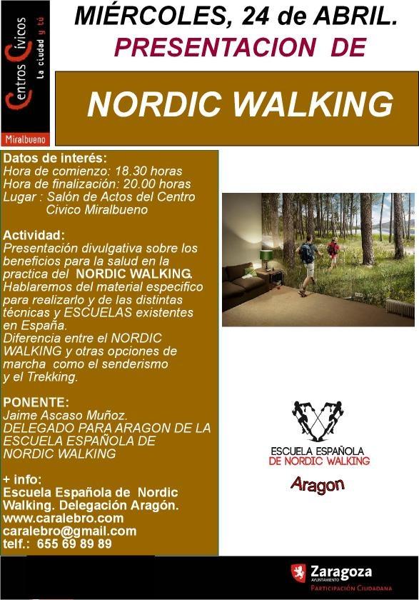 Para conocer el NORDIC WALKING INTEGRAL. No te lo pierdas. charla gratuita.