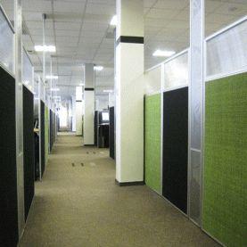 Floor to ceiling power panels.