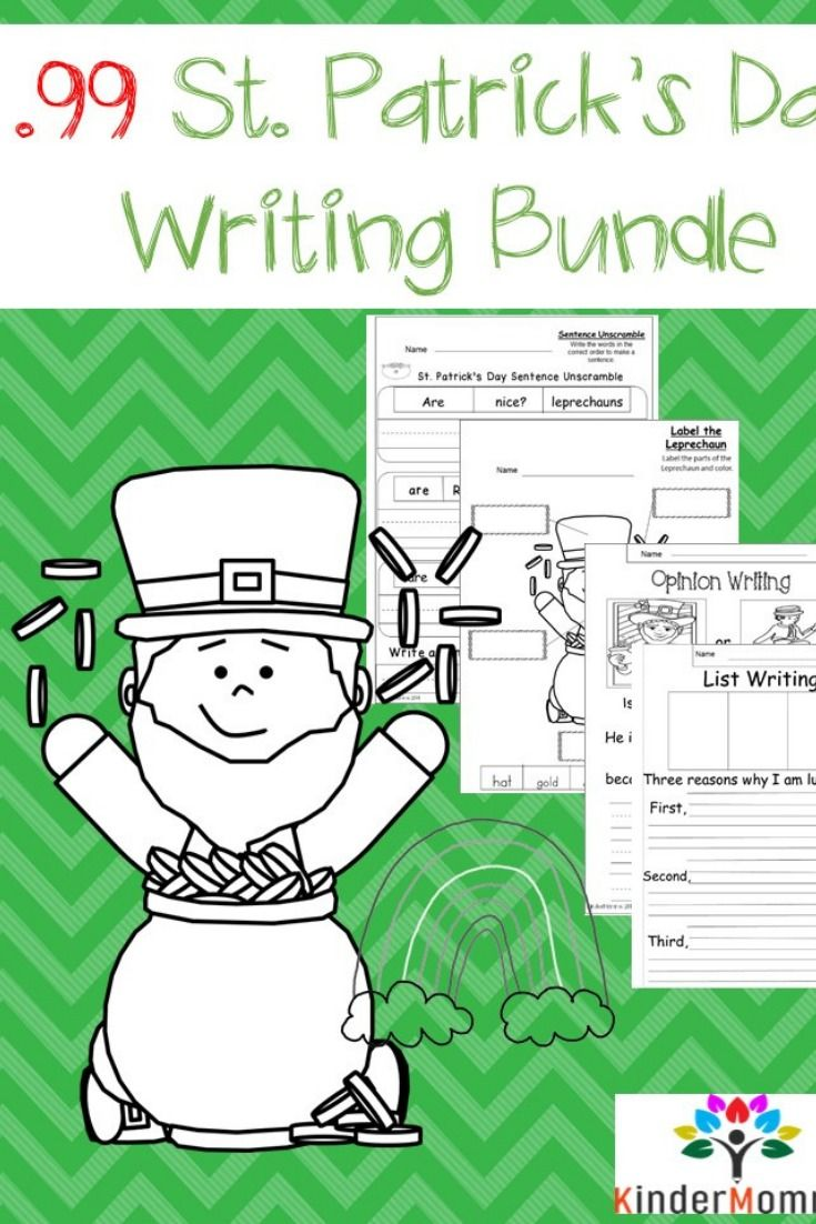 St Patrick S Day Writing Worksheets Bundle Narrative Writing