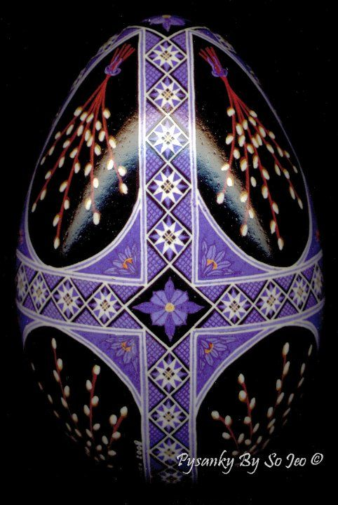 Pussy Willows Ukrainian Easter Egg Pysanky By So Jeo