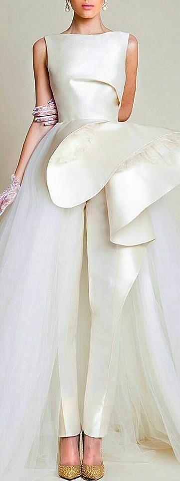 OMG, gorgeous...for that 'Unique Bride'. work with your seamstress to achieve this look.