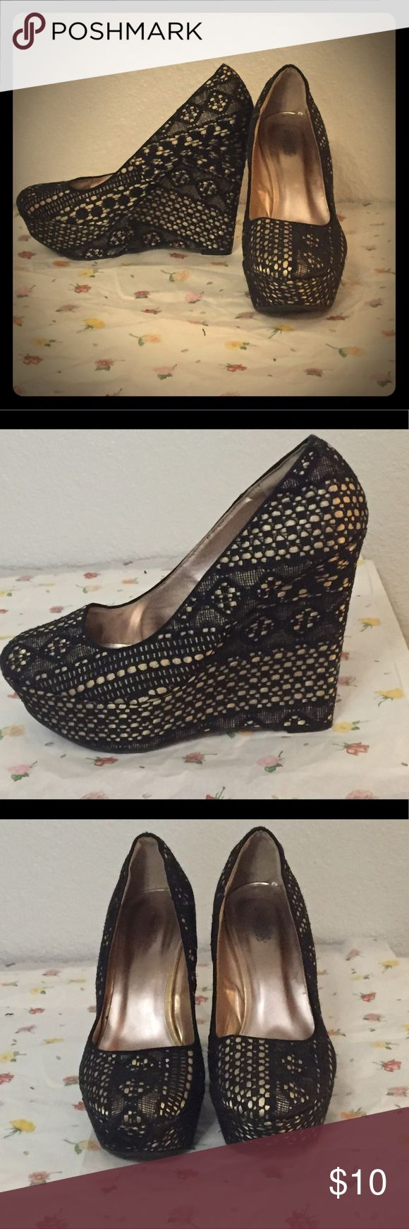 Charlotte Russe size 9 Charlotte Russe size 9. Used Black  lace look Charlotte Russe Shoes Mules & Clogs