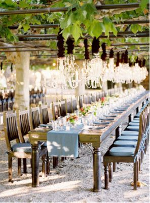 outdoor dinner party. in a vineyard. someday my life will be like this (or not.)