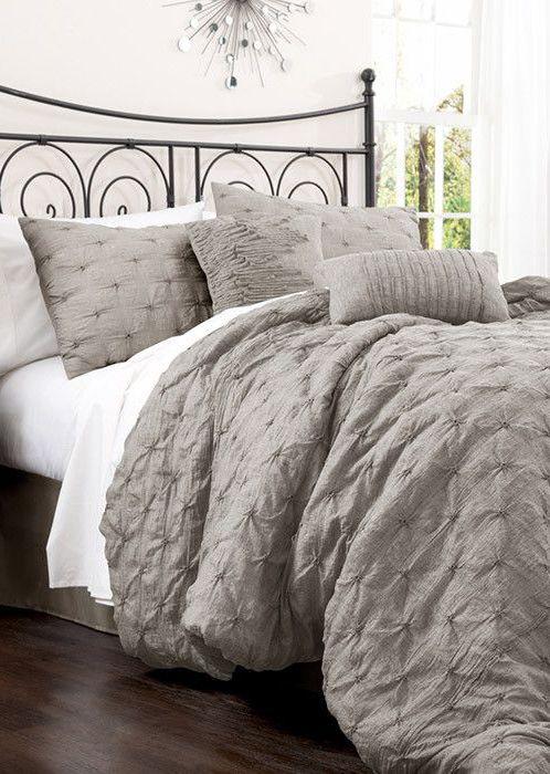 Anabel Comforter Set in Gray