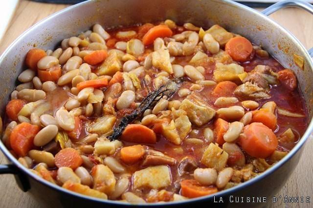 Recette Haricots blancs secs à la tomate - La cuisine familiale : Un plat, Une recette
