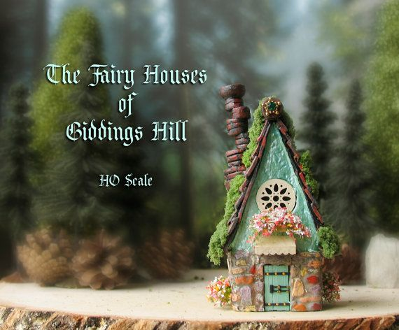 Fairy House of Giddings Hill  Miniature Pearl by bewilderandpine