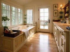 Yes please!! Love that you can have the door open and have a calming private bath