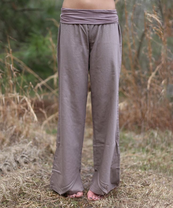 Look what I found on #zulily! Mocha Fold-Over Linen-Blend Flare Pants by Cara's Boutique #zulilyfinds