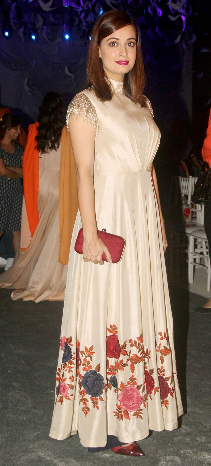 Diya mirza hair gown sleeves