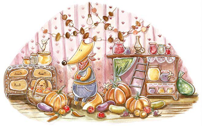 Просмотреть иллюстрацию Лисий календарь - Сентябрь из сообщества русскоязычных художников автора Кристина Крокус в стилях: Детский, Персонажи, нарисованная техниками: Акварель.
