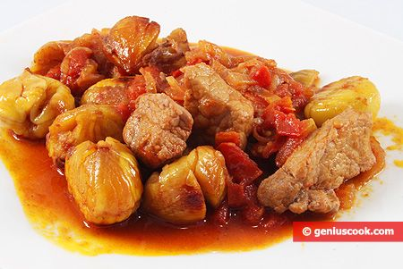 The Cretan Recipe for Stewed Pork with Chestnuts | Meat Dishes | Genius cook - Healthy Nutrition, Tasty Food, Simple Recipes