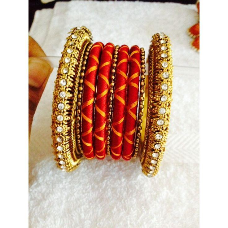 Bangle set made of silk-06