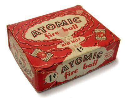 Atomic Fireball Red Hot Candies.