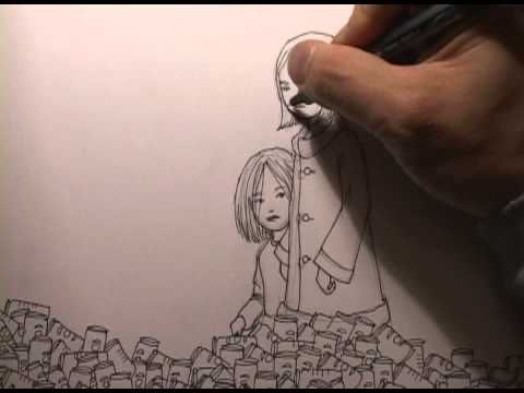 Time lapse video of a drawing being drawn.     Drawing by TED KiM  Music by RADiCAL FACE