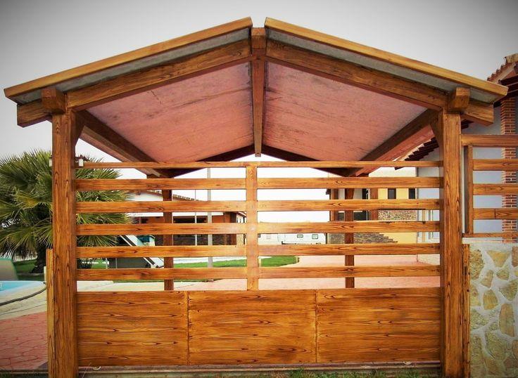 Puerta y techado en vivienda prefabricada de hormigon www - Viviendas de acero ...