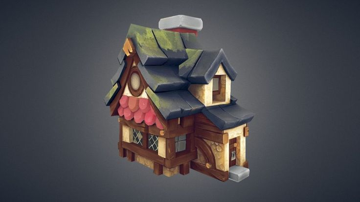 LowPoly_House_WIP by constructidecepticon