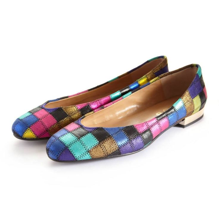 CLEO B Tetris inspired patchwork leather 'Hip Hop' pump with gold heel detailing. #pixel #collection #tetris #inspired #multicoloured #gold #pink #blue #purple #hiphop #style #fashion #designer #london