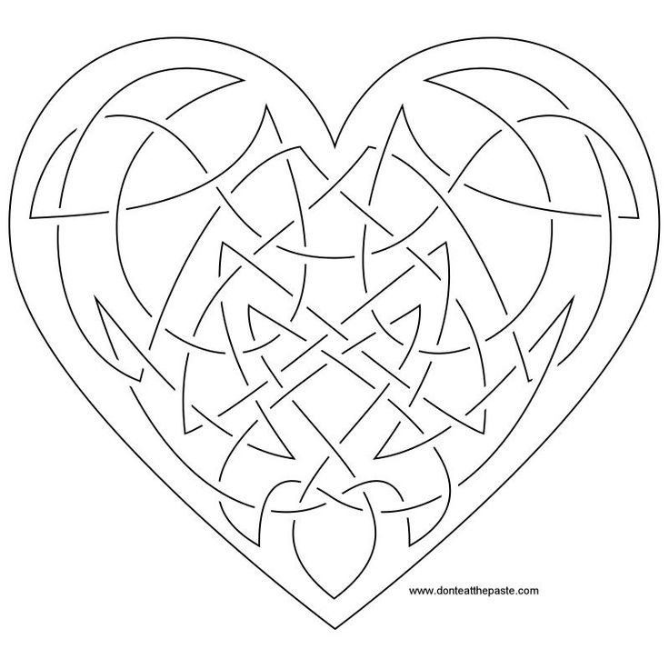 15 best Arts \ Crafts Heart Templates 1 images on Pinterest - best of printable coloring pages celtic designs