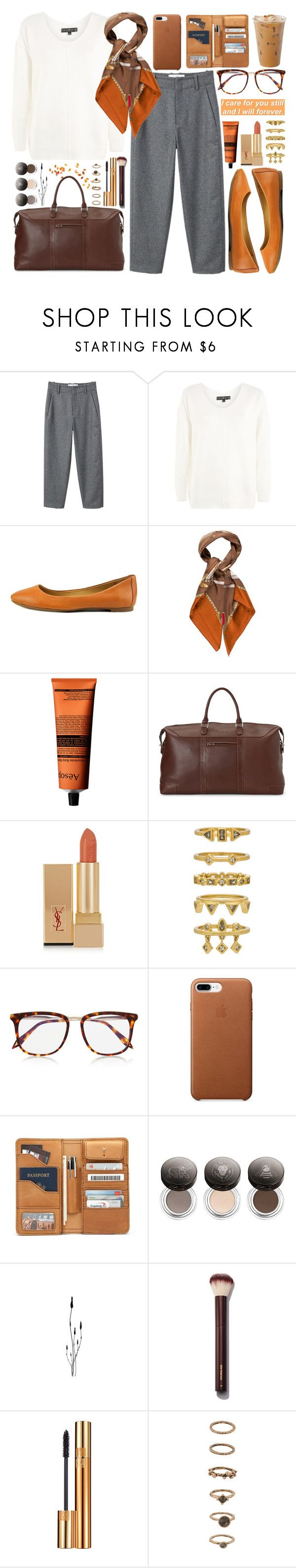 """Thanks for having me"" by carolsposito ❤ liked on Polyvore featuring MANGO, Topshop, Alfani, Gucci, Aesop, Robert Graham, Yves Saint Laurent, Luv Aj, Victoria Beckham and Chantecaille"