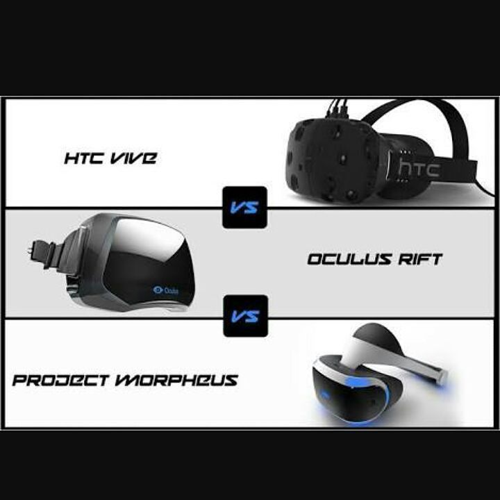 An awesome Virtual Reality pic! Oculus Rift cost $600 USD... Pretty expensive but it's a new tech. Anyway I am much more interested in HTC VIVE the ability to walk around is what will make me immerse into the game. The only things that bugs me are the cable and our room has to be spacious as well so we can walk around while using the VIVE. Not sure about Project Morpheus hopefully it will be as good as VIVE or Oculus.  I am quite excited about VR but I don't think I will buy or even preorder…