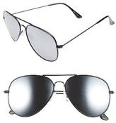 BP Women's Mirrored Aviator 57Mm Sunglasses - Black/ Silver - ShopStyle