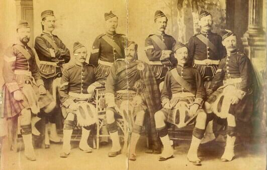 Officer and NCOs, 'A' Coy, Queensland Scottish Volunteer Corps, 1894.