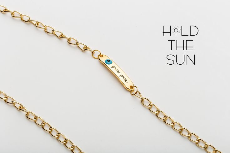 SCUDO • Sunglasses chain in gold with lucky charm • Inspired by Greek grandmas and moms and all their blessings while growing up. • Attachments are adjustable to fit any size eyewear frame by sliding the metal spring up & down. #sunglasses #holdthesun #sun #greece #fashion #sunglasseschain #sunglasses straps