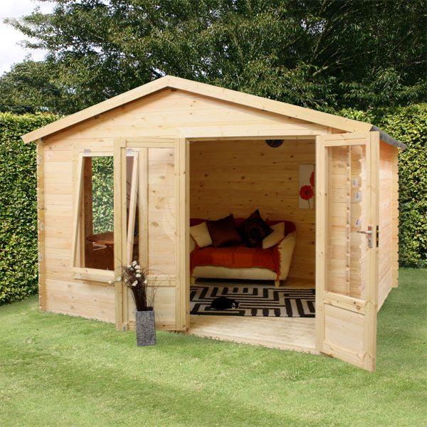 Artist Studio Overlooks Guest Cabin With Rooftop Garden: 24 Best Garden Log Cabins Images On Pinterest
